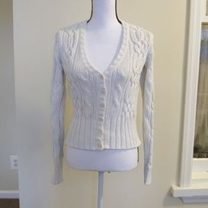 Tommy Hillfiger Button Down Cable Knit Cardigan XS